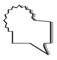isolated empty bubble chat vector image vector image