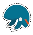 Isolated helmet of winter sport design vector image vector image