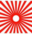 japan red sun wallpaper background vector image vector image