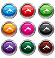 jumping dolphin set 9 collection vector image