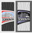 layouts for toronto vector image vector image