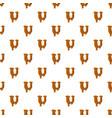 letter u from caramel pattern vector image
