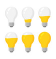 light power bulbs indicator set energy vector image vector image