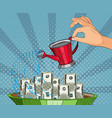 making money investor watering money vector image