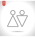 man and woman icon vector image vector image