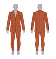 man in suit vector image vector image