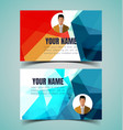 name card template10 vector image vector image
