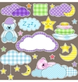 night stickers vector image vector image