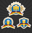 Octoberfest beer labels set vector image vector image