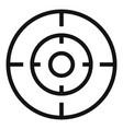 old gun aim icon simple style