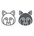 racoon line and glyph icon animal and zoo vector image