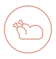 Raw chicken line icon vector image vector image