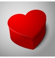 realistic blank big bright red heart shape box vector image
