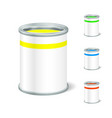 Realistic Blank Open Paint Bucket Tin For Liquid vector image vector image