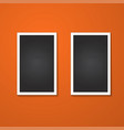 rectangles frame isolated on red vector image vector image