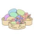 ribbon and flowers vector image