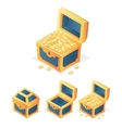 RPG Game Icon Treasure Chest with Coins Closed vector image