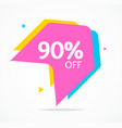 sale banner sticker abstract geometric design vector image vector image