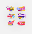 sale stickers isolated on white background vector image vector image