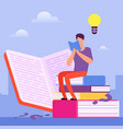 search for answers to questions in books self vector image vector image