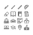 set of school icon education for element design vector image