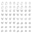 Shopping cart or shop basket icons for web vector image vector image