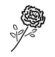 Single rose black sign 211 vector image