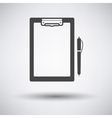 Tablet and pen icon vector image vector image