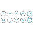 time and clock line isolated icons linear icon vector image vector image