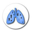 Tuberculosis the emblem of world tuberculosis day vector image
