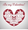 Valentines day ornamental heart vector image vector image