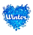 Winter abstract background design with snowflakes vector image