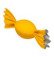 yellow bonbon icon isometric style vector image
