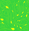 yellow stems vector image