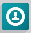 flat male profile icon vector image