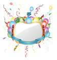 Party invitation card with balloons vector image
