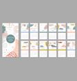 2021 trendy calendar design set 12 months vector image vector image