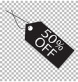 50 percent tag on transparent 50 percent tag vector image vector image