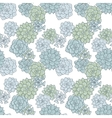 abstract seamless pattern with succulentes vector image vector image