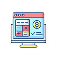 accounting software rgb color icon