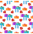 adorned festive present boxes seamless pattern vector image vector image