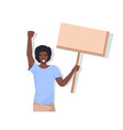 african american man protester holding blank vector image
