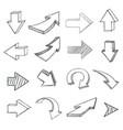 arrows sketch drawing vector image