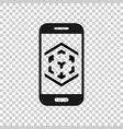 augmented reality icon in transparent style vr vector image