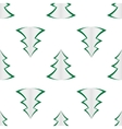 background of green christmas trees vector image vector image