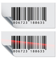barcode stickers vector image vector image