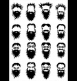 bearded hipster guy portrait vector image vector image