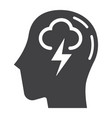 brainstorm solid icon business and idea vector image vector image