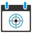 Bullseye Calendar Day Toolbar Icon vector image vector image