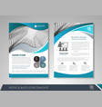business brochure annual report vector image vector image